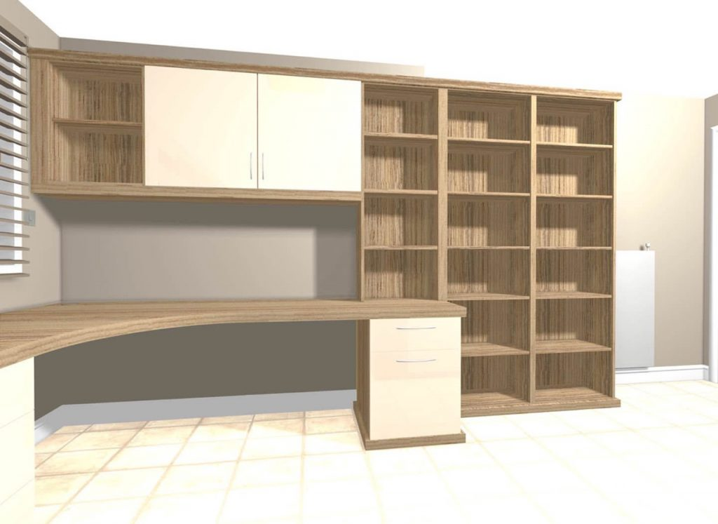 Fitted hardworking home office case study strachan Home study furniture design
