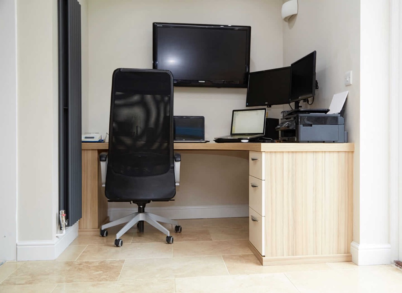Case study showing additional home office desk space