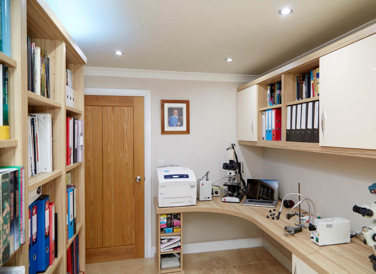Case study showing additional work space in home office
