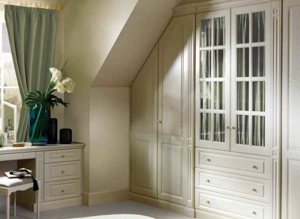 Wardrobe fitted to a sloping ceiling