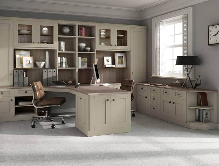 Verona home office in Driftwood & Sage