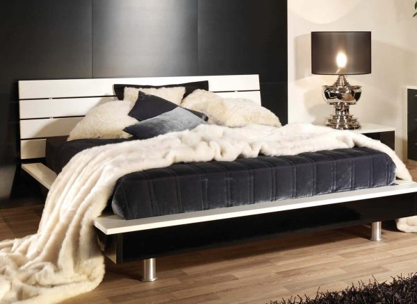 Two tone bed frame