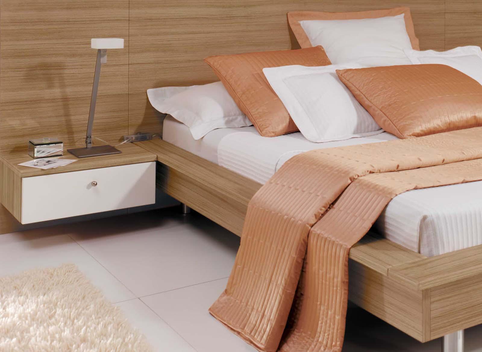 Portofino High Gloss White & Granadillo Strachan Bedroom