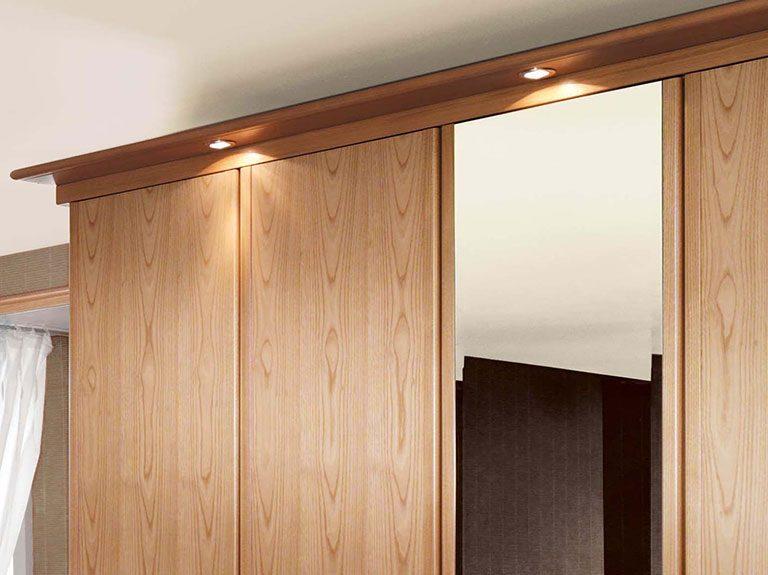 LED lighting on Siena wardrobe in Natural Oak
