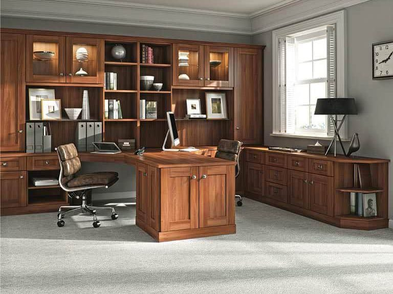 Strachan Verona home office in Uno Walnut