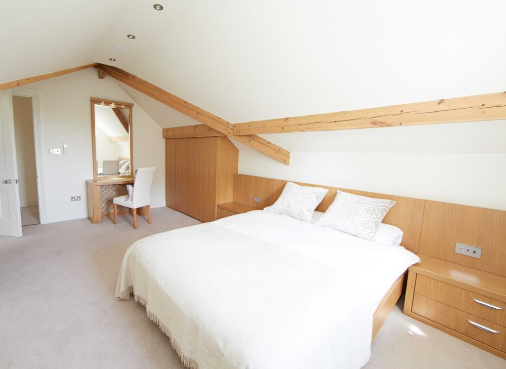 Case study showing fitted bedroom furniture in loft conversion