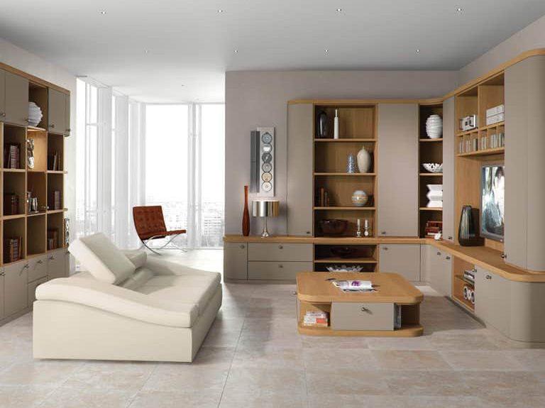 Optima lounge in Truffle and Natural Oak