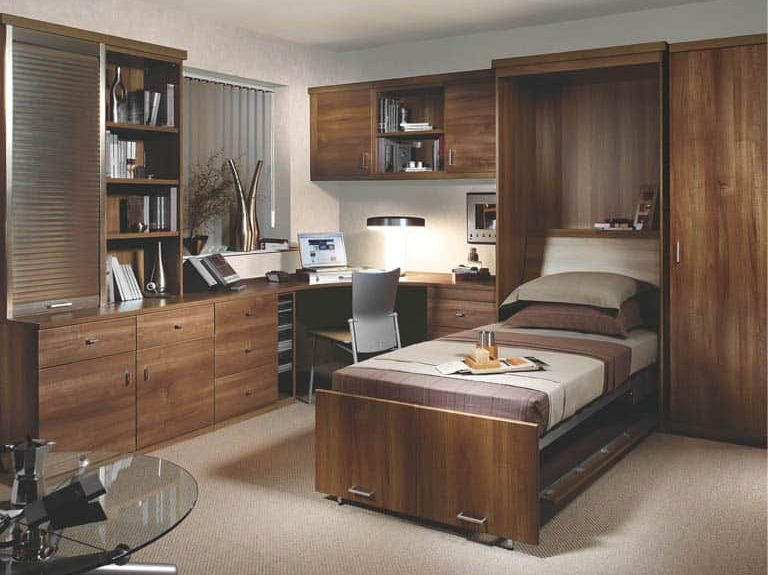 Toscana wall bed in Uno Walnut