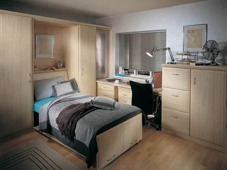 Alto wall bed in covert-a-room study bedroom