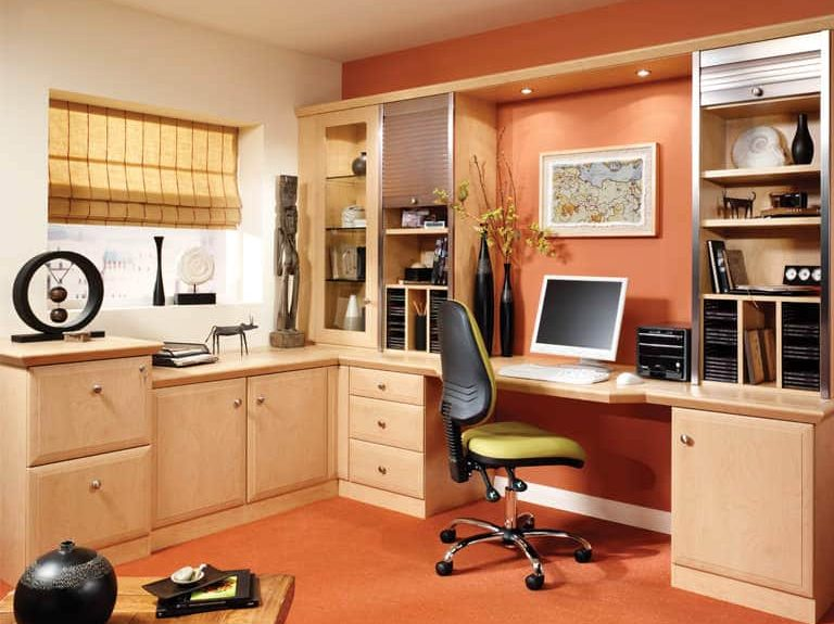 Alto home office in a Beech finish