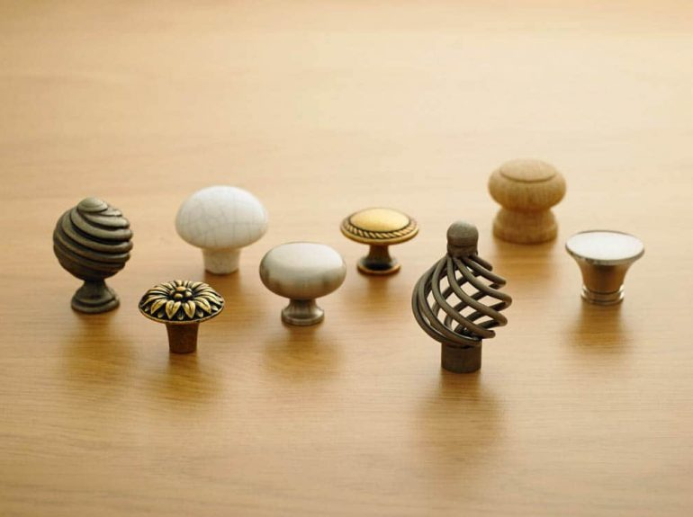 A selection of Strachan door knobs and handles