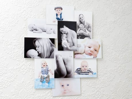 Family portrait gallery wall