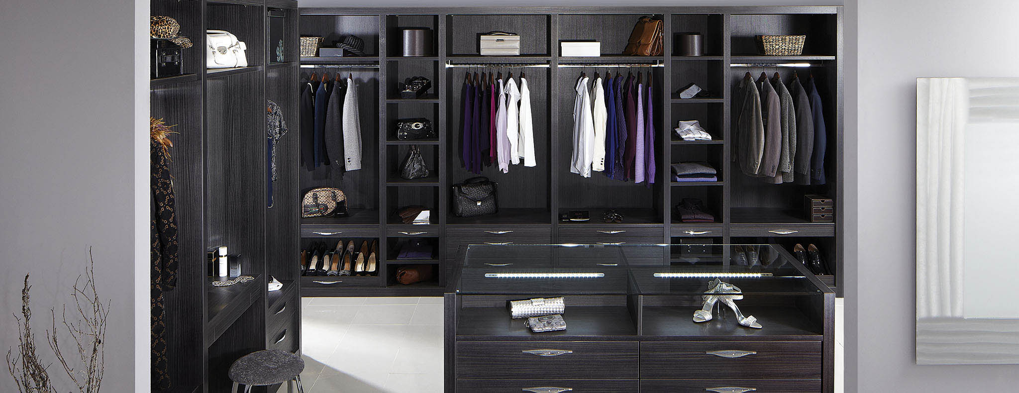 Ultimo aura dressing room furniture by strachan - Black and white dressing room ...
