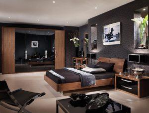 capri bedroom in american black walnut high gloss black. Black Bedroom Furniture Sets. Home Design Ideas