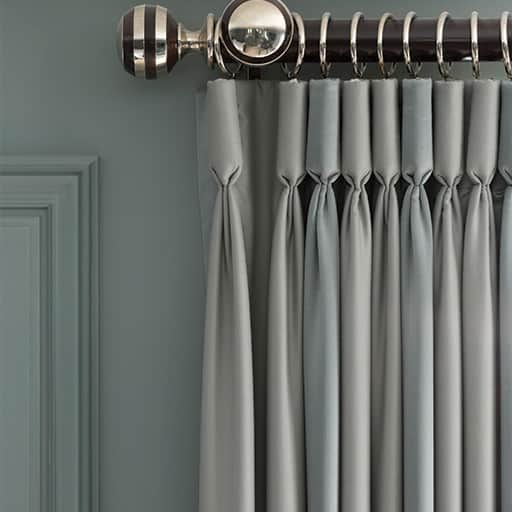 Interior design trends blue grey stylish living strachan for Latest trends in curtains