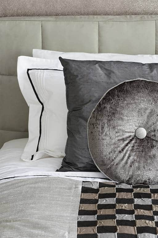 Grey and white pillows and cushions