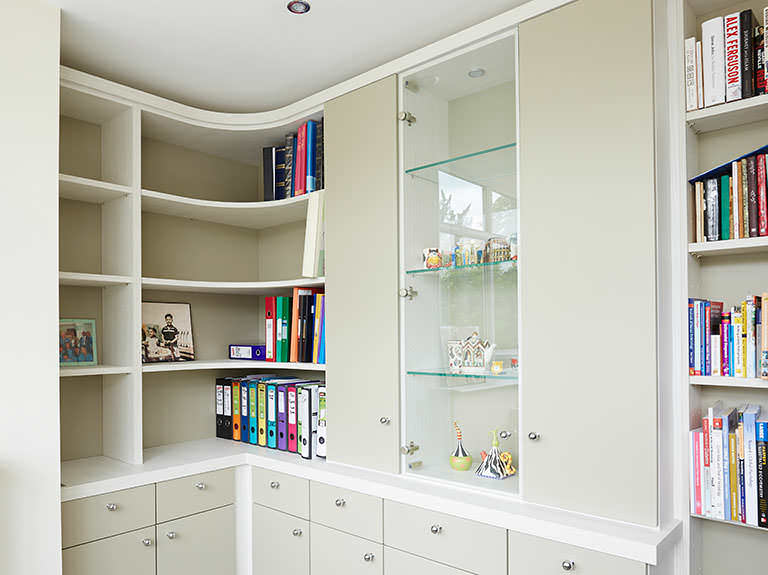 Curved corner cabinets