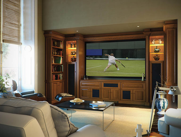 Fitted TV cabinets with intergrated speakers