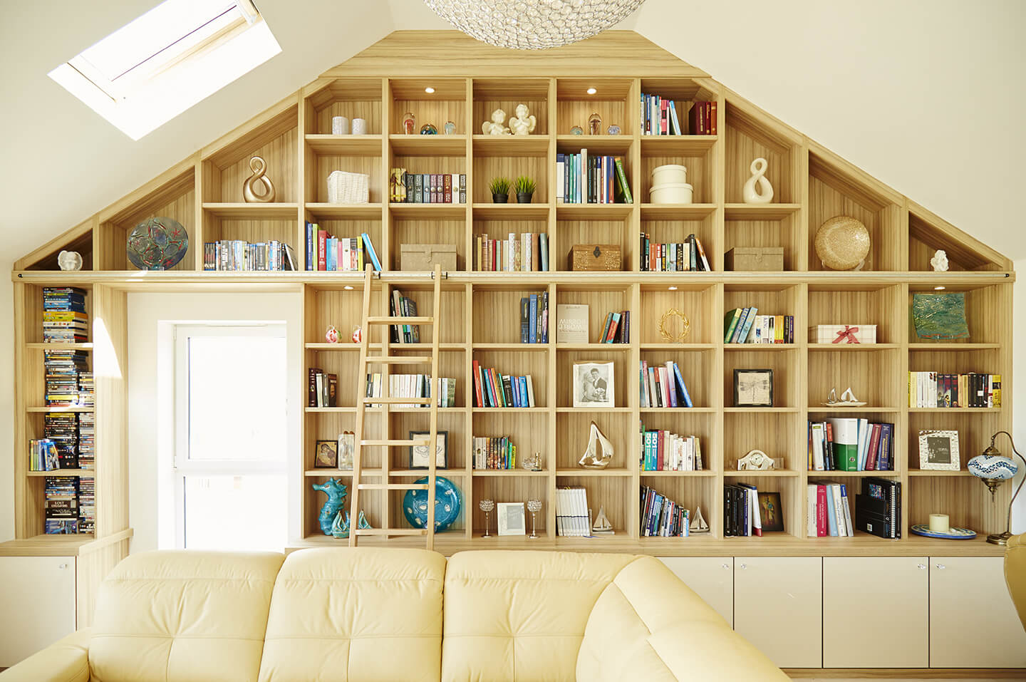 Strachan Bespoke Library Bookcase with Ladder