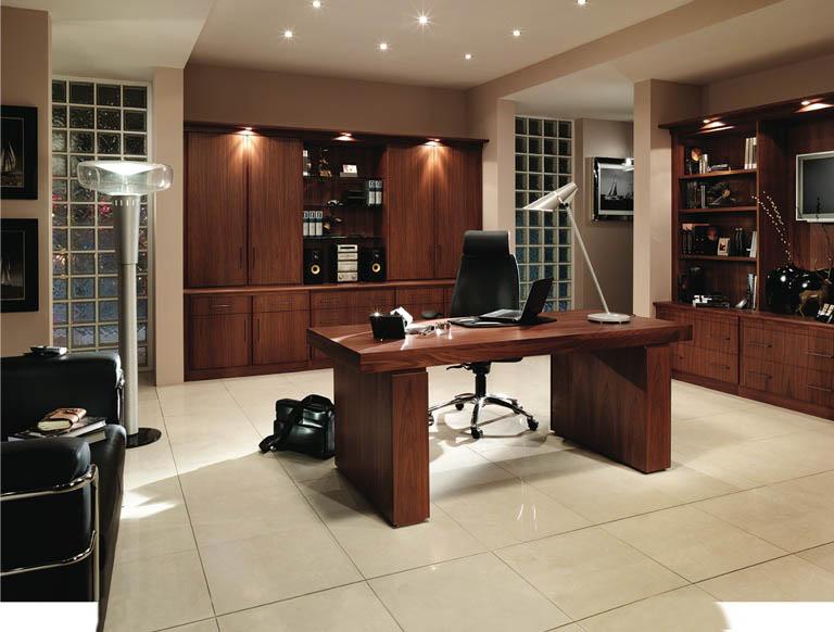 Siena home office in American Black Walnut