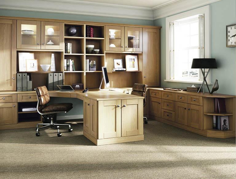 Verona home office in English Oak