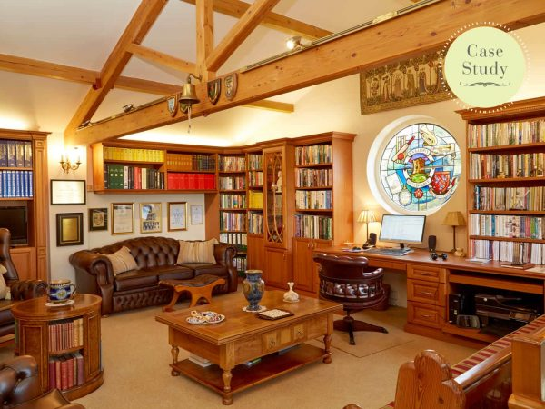 Traditionally styled library