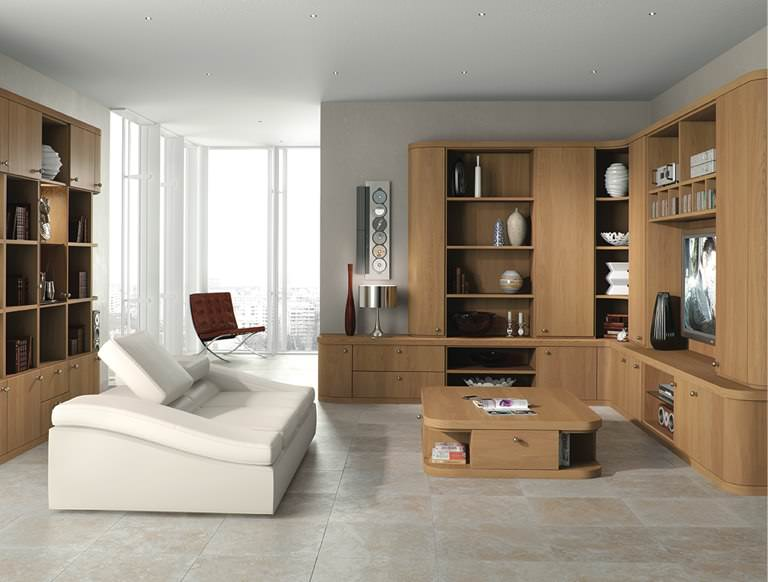Optima sitting room in Natural Oak