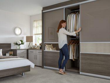 Four panel sliding wardrobe doors