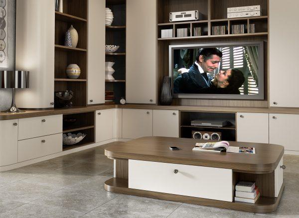Precisely measured contemporary home cinema furniture