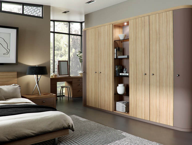 Optima bedroom in Mushroom & Granadillo