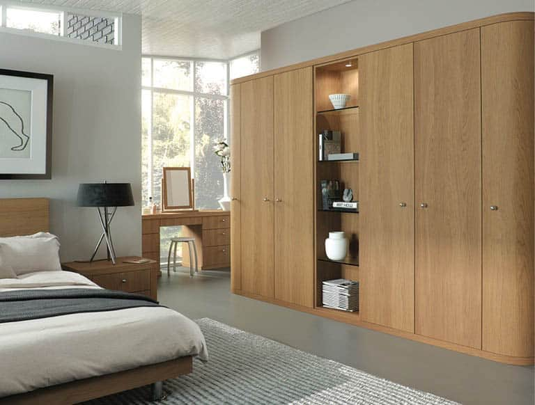 Optima fitted bedroom in natural oak