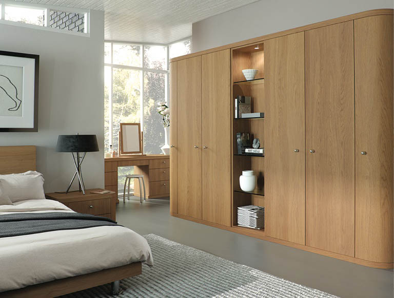 Fitted bedroom in natural oak