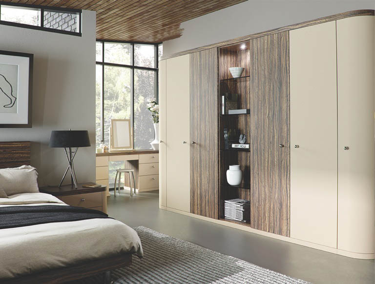 Optima bedroom in Oyster & Dark Olive