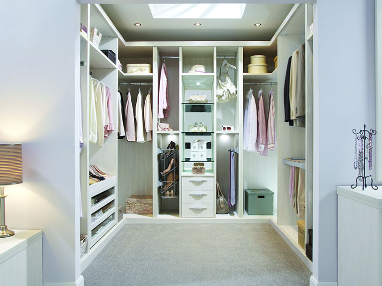Pure White Walk In Wardrobe