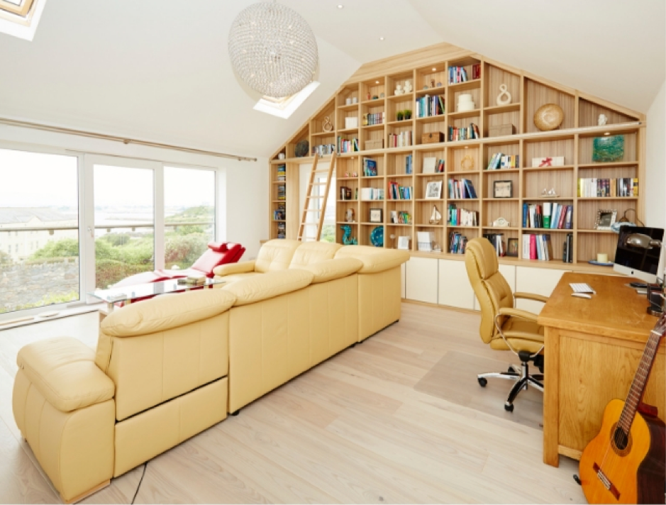 Strachan Lounge with Bookcases