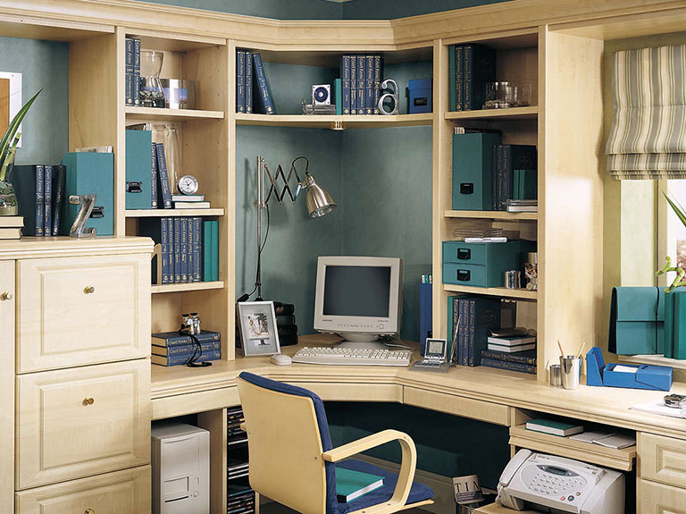 Strachan Furniture Home Office Desk and Shelves