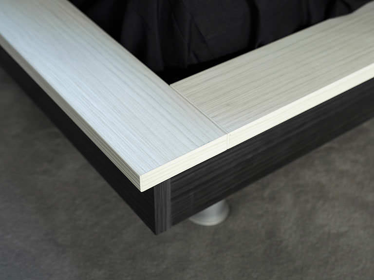 Case study showing two tone bedframe finish