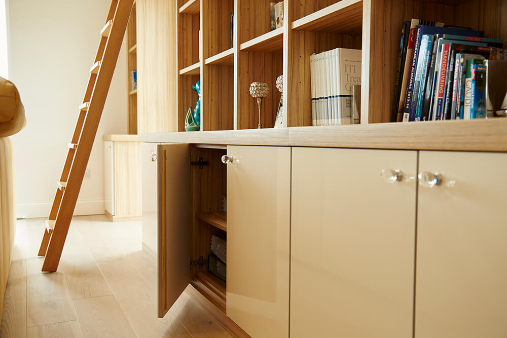 Low level fitted storage cabinets
