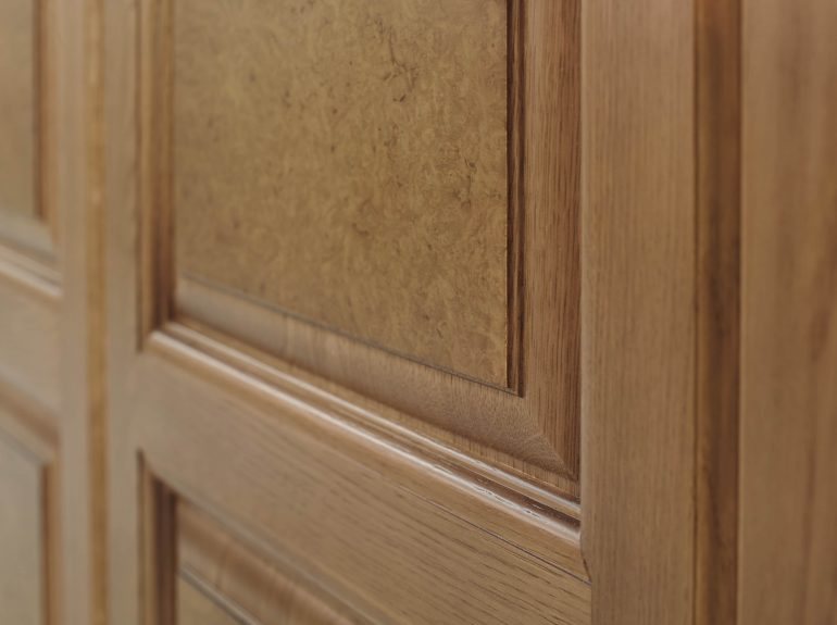 Detail of Walnut burr wardrobe veneer