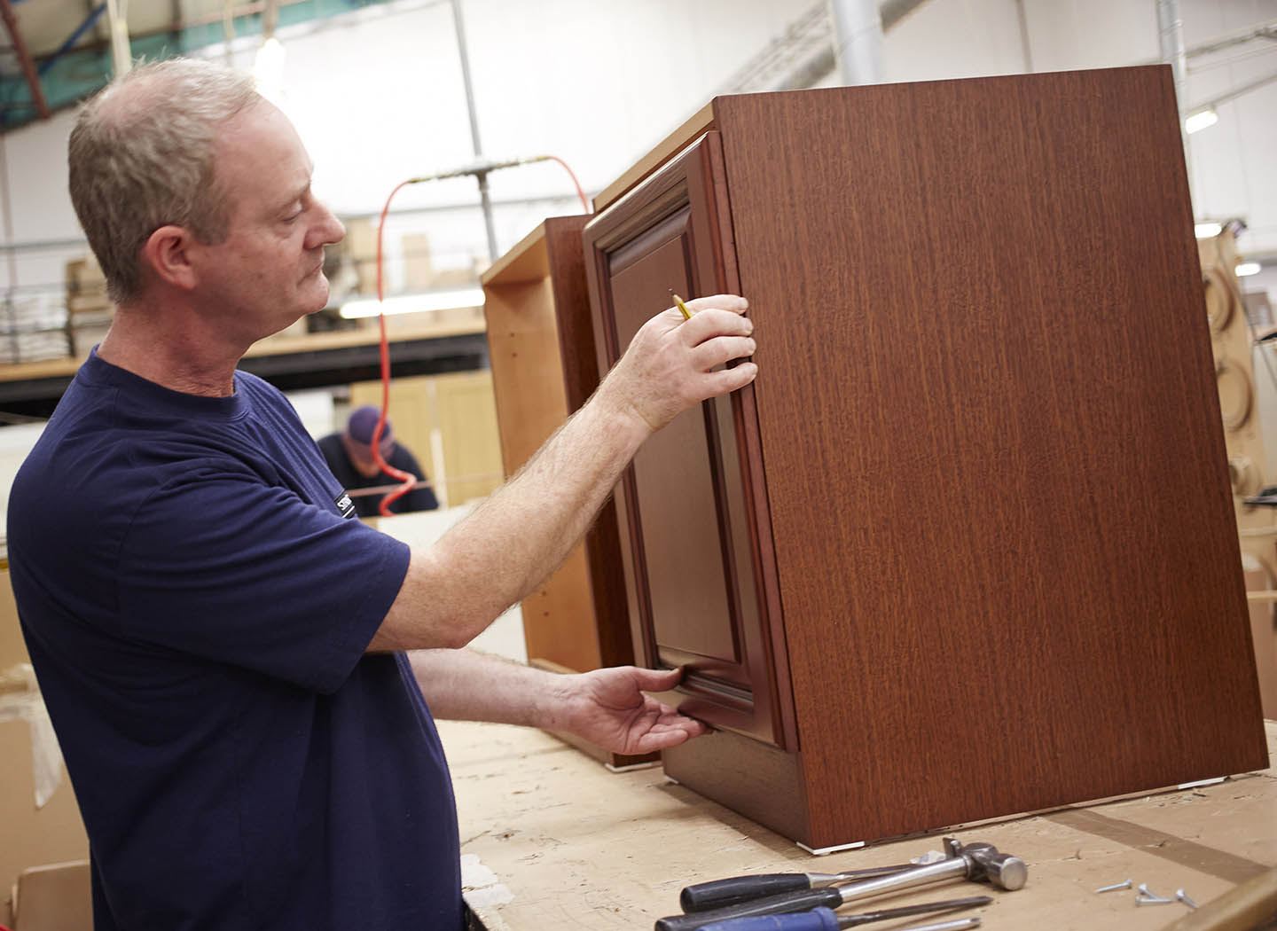Handcrafting Strachan furniture in our Leeds workshop
