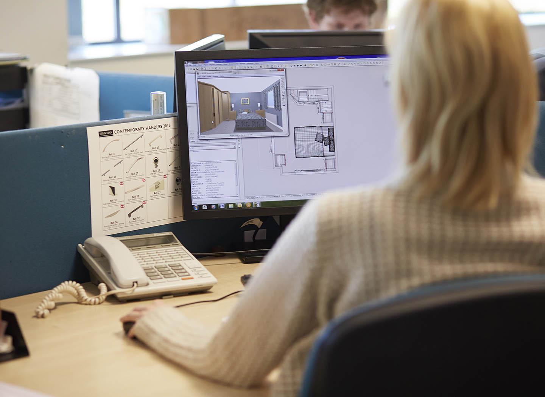 Strachan designer carefully planning a new room