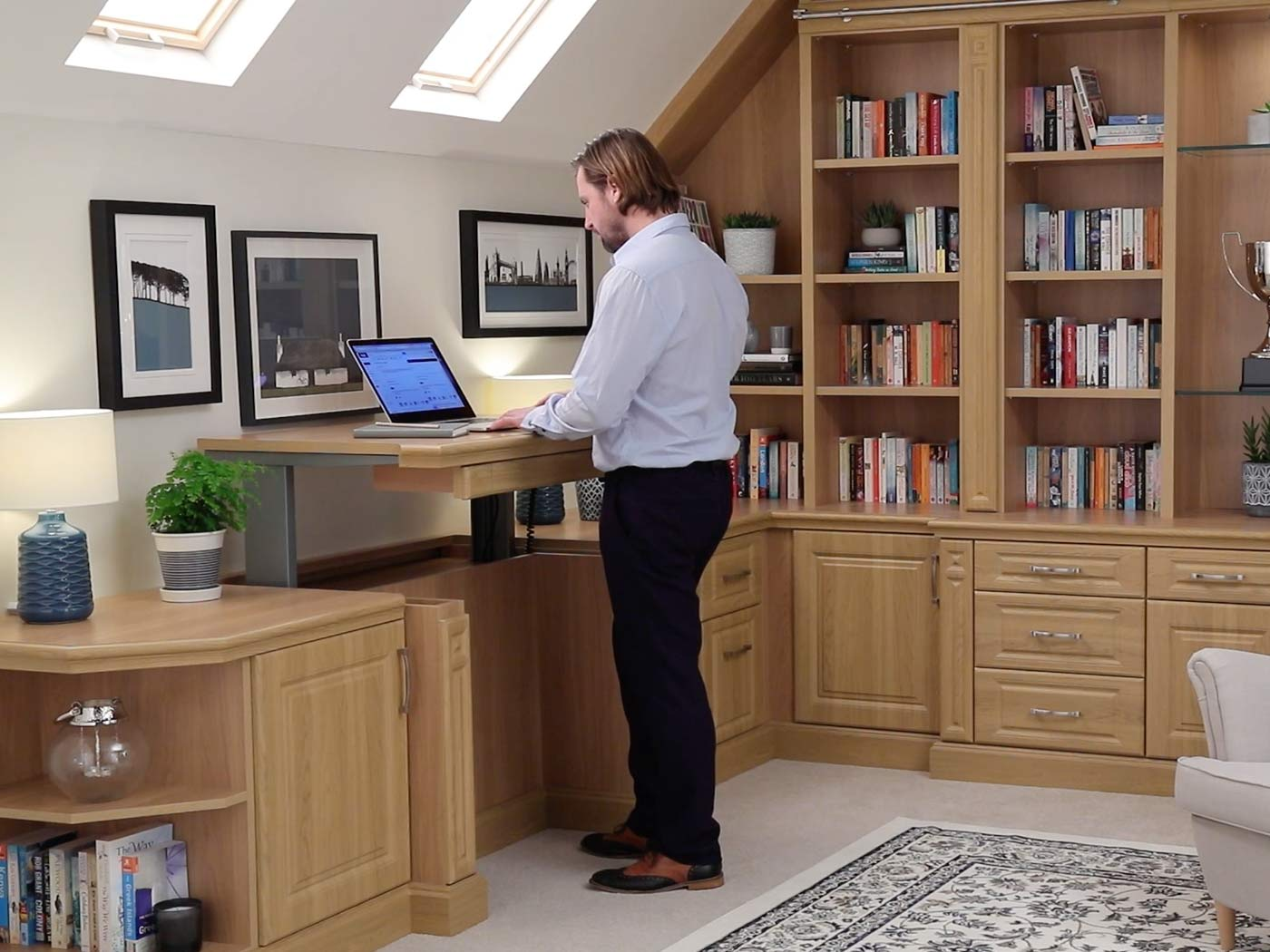 Strachan fitted study bedrooms with sit-stand desk