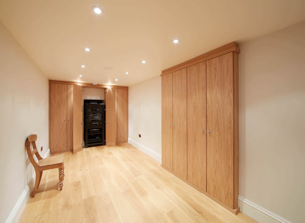 Case study showing fitted wardrobes in basement conversion