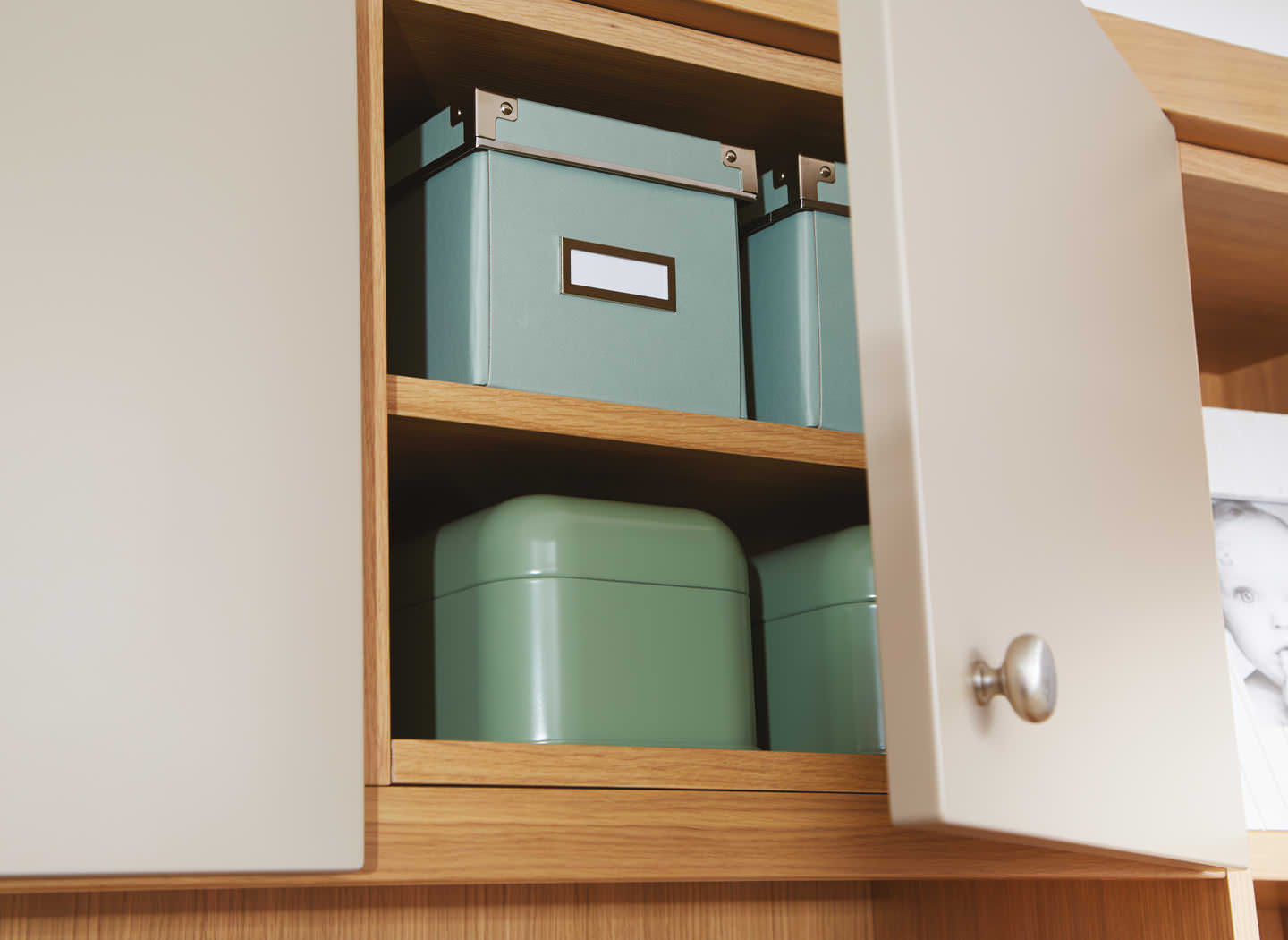 Case study showing fitted cabinets in lounge