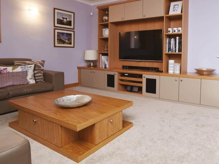 Optima lounge with fitted entertainment unit