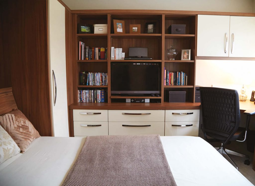 Case study showing study bedroom with wall bed