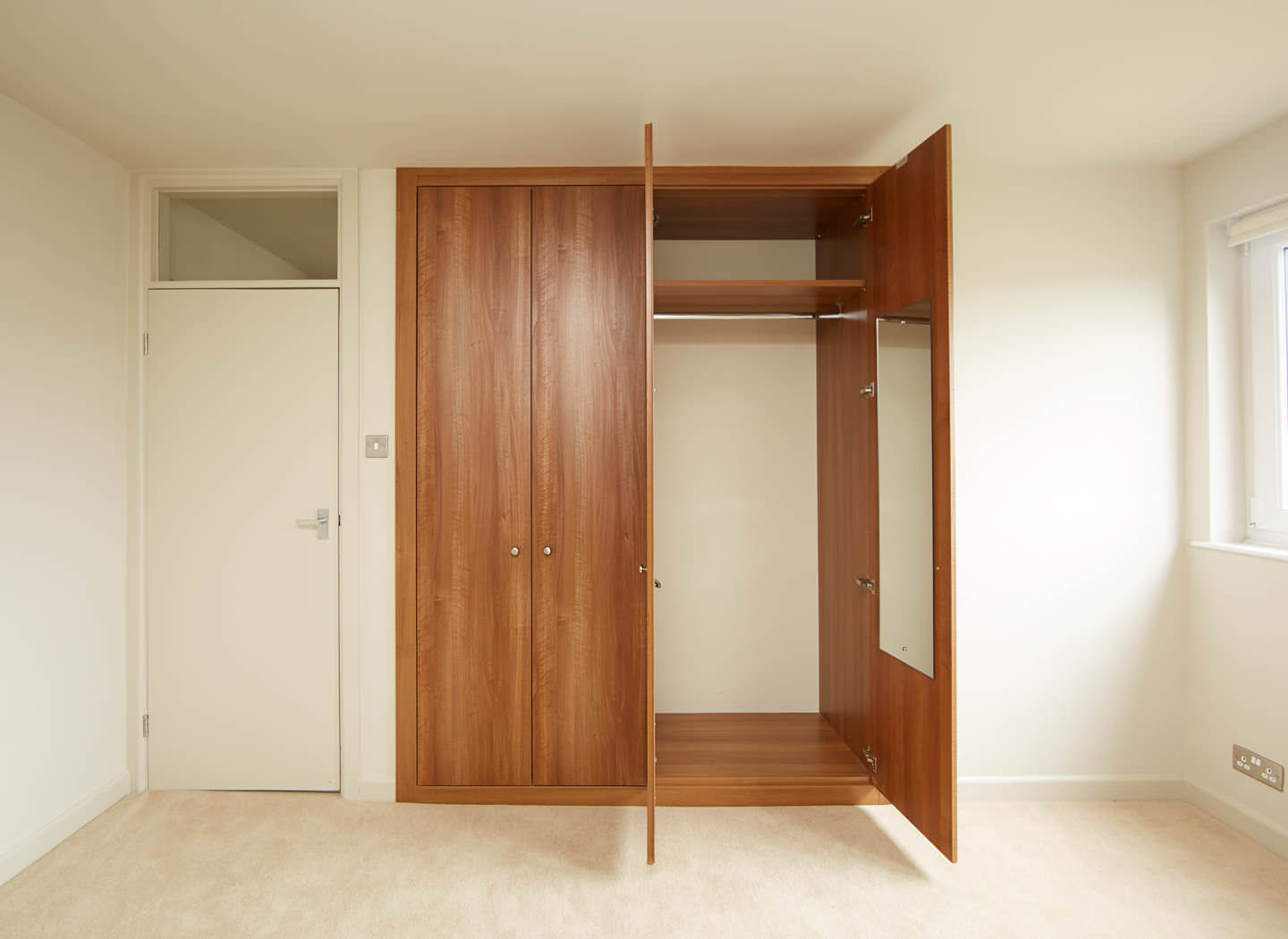 Case study showing open fitted wardrobes