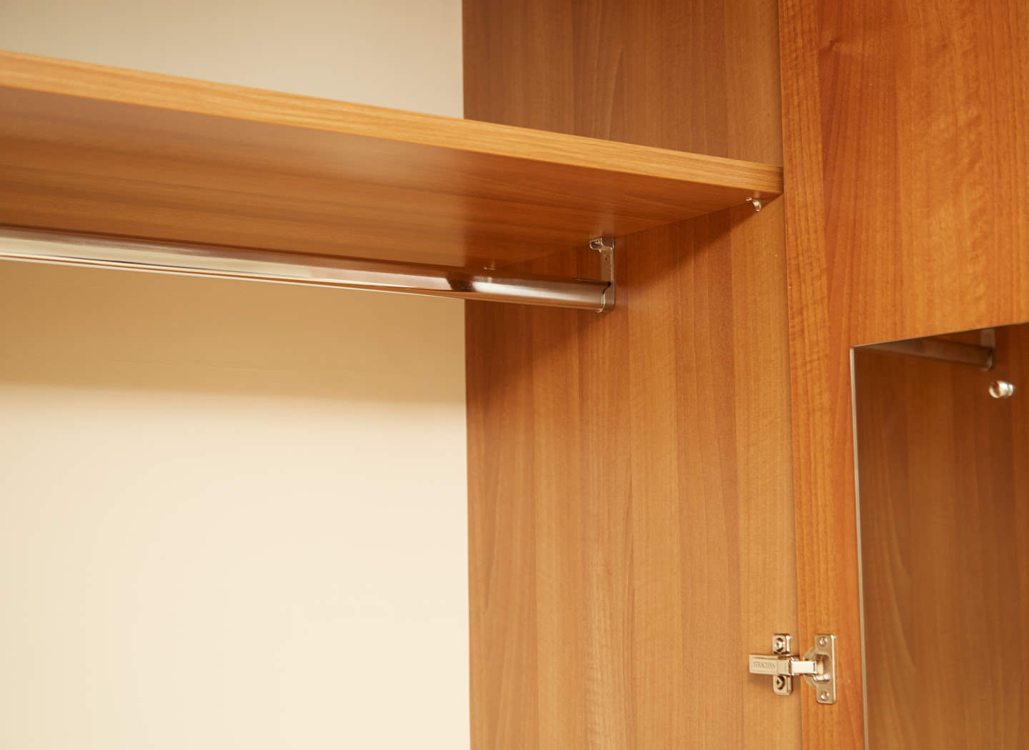 Case study showing wardrobe hanging space