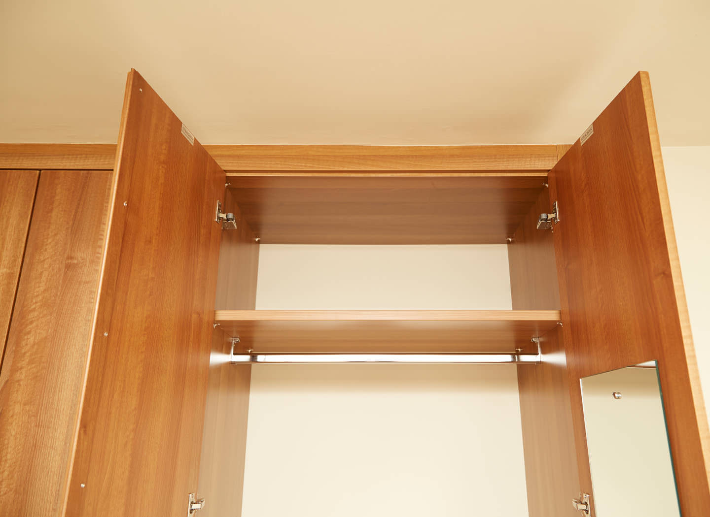 Case study showing internal detail of fitted wardrobe