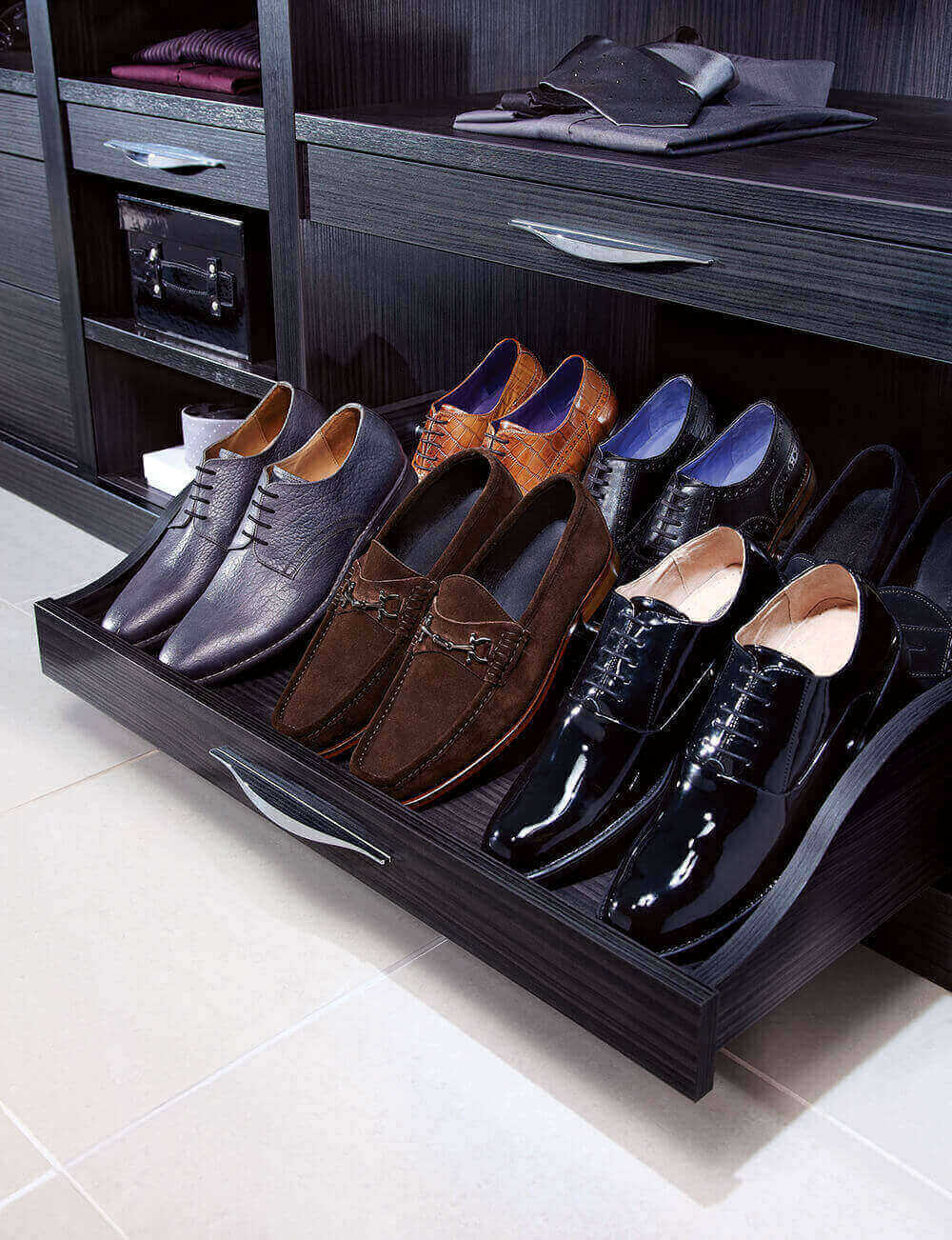 Strachan Furniture Pull Out Shoe Storage